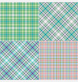 set abstract diagonal striped and checkered vector image vector image
