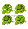 set badges for saint patricks day vector image