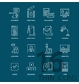 Set of thin line flat business icons vector image vector image