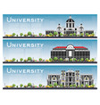 set of university campus study banners vector image vector image