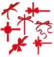 Silk ribbons vector image