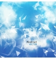 Sky and Triangles Background Futuristic vector image