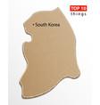 south korea map korean maps craft paper texture vector image