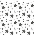 star seamless pattern cute kids star seamless vector image
