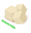 sugar allergen free icon isometric style vector image vector image