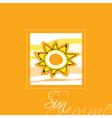 Sun Card vector image
