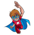 super boy flying vector image vector image