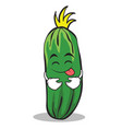 tongue out cucumber character cartoon collection vector image vector image