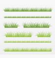 variety natural grass set vector image vector image