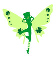 woman butterfly in hat vector image