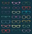 Retro Glasses Silhouettes vector image