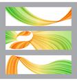 Set banners wavy shape vector image