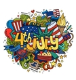 4th July Independence Day hand lettering and vector image
