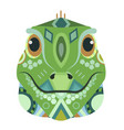 iguana head logo lizard decorative emblem vector image