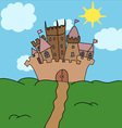 Castle on the hill art vector image