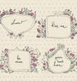 romantic set of floral frames in a pastel colors vector image