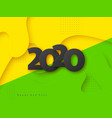 2020 3d new year vector image vector image