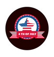 4th july independence day american flag star vector image vector image