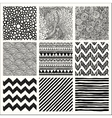 Abstract Hand Drawn Seamless Background Patterns vector image