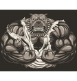 Angry dog bodybuilder vector image vector image