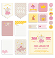 Baby Shower Girl Set - Tags Banners Labels Cards vector image vector image