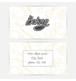 Bakery business cards with hand lettering logo vector image vector image