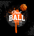 basketball banner design template vector image vector image