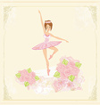 Beautiful ballerina - abstract card vector image