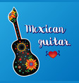 beautiful mexican guitar vector image vector image