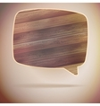 Blank Speech Bubble on wood background EPS10 vector image vector image