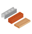 block brick and plank vector image vector image