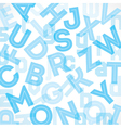 Blue alphabet background vector image vector image