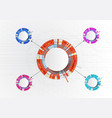 bright multicolored infographics with 4 elements vector image