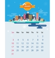 Calendar of January vector image