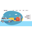 car selling company website design vector image