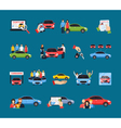 Carsharing Icons Set vector image vector image