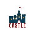 Castle abstract design template vector image vector image