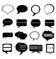 Chat bubble icons set vector image vector image