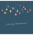 christmas card decoration vector image vector image