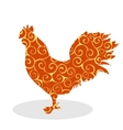 Cock Vintage silhouette pattern bird vector image vector image