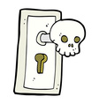 comic cartoon spooky door knob vector image vector image