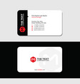creative business card red letter m vector image vector image