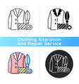 custom suits and shirts black linear icon vector image vector image