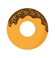 delicious sweet donut isolated icon vector image vector image