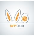 easter bunny with egg abstract background vector image vector image