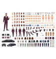 elegant man dressed in business or smart suit vector image vector image
