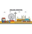 england brighton city skyline architecture vector image vector image