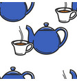english tea ceremony seamless pattern teapot and vector image vector image