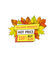 exclusive fall products buy now at super hot price vector image vector image