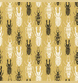 exotic seamless pattern with insect beetles in vector image